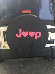Spare Jeep Rv Liberty Wrangler Wheel Tire Cover Pink Jeep Hearts