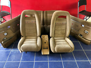 1984 1985 1986 1987 1988 Ford Bronco Ii Front Rear Seats Tan Cloth W Panels