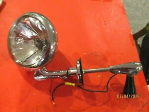 Vintage Unity Mfg Model S6 Spot Light W Mounting Bracket And Ge Bulb 12 Volt