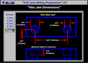 Soft Jaws Dimensions Milling Programming Software For Kurt Cnc Mill Vises