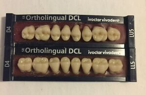 Ivoclar Vivadent Ortholingual Dcl 2 Cards Of D4 Teeth For Dental Lab Materials
