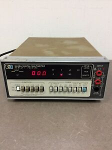 Agilent Hp Hewlett Packard Keysight 3438a Digital Multimeter Free Shipping 5293s