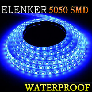 5050 Smd Waterproof Led Strip Light 16 4ft For Boat Truck Car Suv Rv Blue