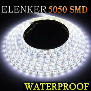 White Waterproof Led Strip Light 5m For Boat Truck Car Suv Rv Atv 16ft