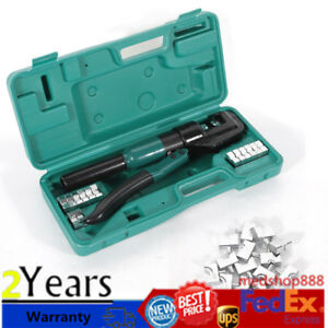 5 Ton Hydraulic Wire Terminal Crimper Battery Cable Lug Crimping Tool W dies