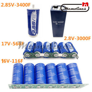 2 8 17v 116 3400f Car Power Farad Capacitor Super Capacitor Protection Board