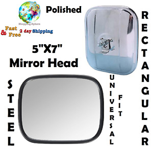 Universal Replacement Mirror Head Stainless Steel Car Truck Auto Exterior Parts