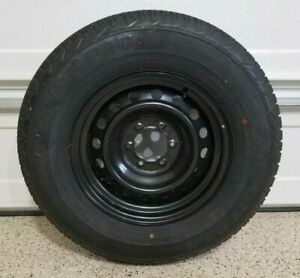 Toyota 4runner 17x7 5 Oem Spare Steel Wheel With Dunlop 265 70 17 Tire