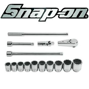 Discounted Snap On 15 Pc 3 4 Sae Shallow General Service Socket Set 414ahd
