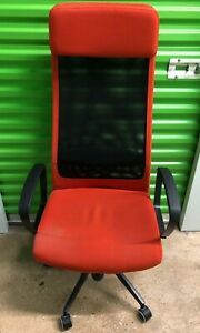 Ikea Markus Swivel Vissle Red Office Computer Desktop Gaming Chair