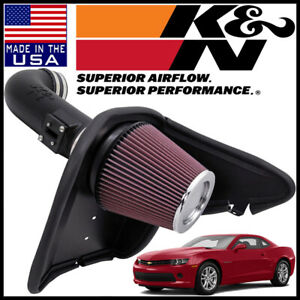 K n Aircharger Cold Air Intake System Fits 2010 2015 Chevy Camaro Ss 6 2l V8