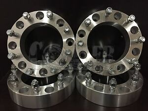 4pc Full Set 2 Skid Steer Wheel Spacers 5 8 Studs For 8 Lug Bobcat Case Cat