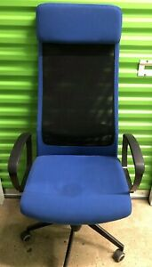 Ikea Markus Swivel Vissle Blue Office Computer Desktop Gaming Chair
