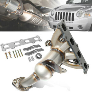 Fit 07 17 Jeep Compass Patriot 2 4l 4wd Catalytic Converter Exhaust Manifold Kit