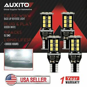 4x Auxito Canbus T15 921 912 W16w Led Backup Reverse Light Bulb Fit For Ford Gmc
