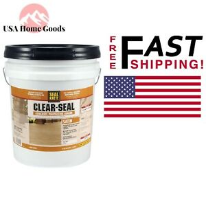 Satin Clear Seal 5 gal Concrete Protective Sealer Scratch Stain resist Coating