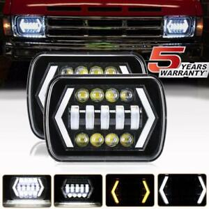 7x6 Inch Led Headlight Drl Turn Signal For Toyota Pickup Celica Truck