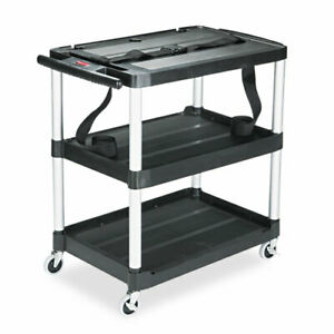Mediamaster Three shelf Av Cart 18 5 8w X 32 1 2d X 32 1 8h Black