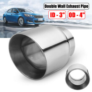 Stainless Steel Exhaust Tip Double Wall Slant 3 Inlet 4 Outlet 5