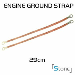 Pair Auto Braided Engine Ground Strap Cable Copper Tinned Terminal High Quality