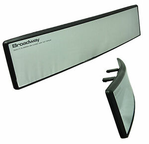 Broadway 270mm Convex Clear Blind Spot Interior Rear View Mirror Snap On A353