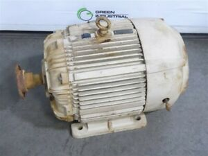 Used 40 Hp Westinghouse Electric Motor 460v 3545 Rpm 324ts Frame 680b656g11