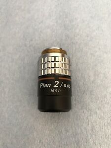Nikon Plan 2x 0 05 Objective Lens For Labophot Optiphot Microscopes
