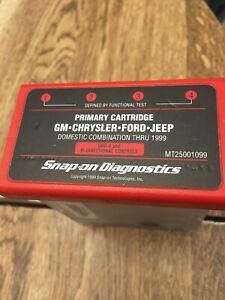 New Snap On Primary Cartridge Gm Chrysler Ford Jeep Mt2500 Obd1 And Obd11