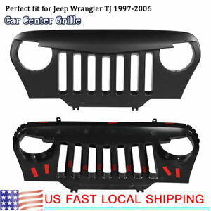 1997 2006 Car Front Face Abs Black Center Grille Fit For Jeep Wrangler Tj Usa