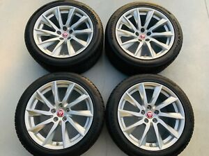 Jaguar F Type Xf Xj 18 Factory Oem Rim Wheels And Tires Set Of 4 59885 59902