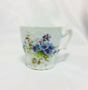 Fine China Teacup Unknown Maker Floral Design 2 5 Tall