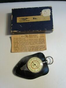 Vintage Tacro Compass Opisometer Map Measuring Tool Nautical Miles West Germany