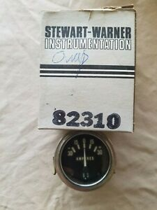 Oem Vintage Stewart Warner 82310 Amp Gauge Hot Rat Rod Marine Voltage Amperes