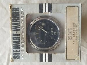 Oem Vintage Stewart Warner 82305 Oil Pressure Gauge Hot Rat Rod Marine
