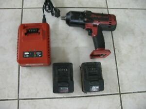 Snap on Ct8850 1 2 Impact Wrench 18v Lithium W 2 Batteries Charger