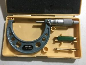 Mitutoyo 103 217 2 To 3 Micrometer With Case Standard And Wrench