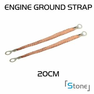 2pcs Auto Body Frame Firewall Engine Ground Strap Copper With 5 16 Terminal