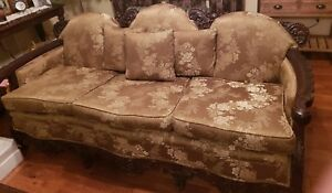 1920 S 30 S Antique Solid Mahogany Sofa Set