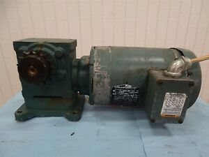 Reliance Electric P14g9256 Gear Motor With Tigear2 Gearbox 1hp 1740rpm 3ph 143tc