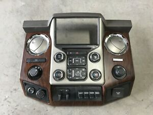 2013 2015 F250 F350 Radio Bezel Climate Navigation Wood Dash Trim Kit Ford Oem
