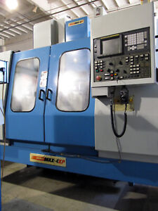 Supermax Max 4xp Vmc Cnc Mill 43 x24 Travels 4th axis Rotary 24 side Mount Atc