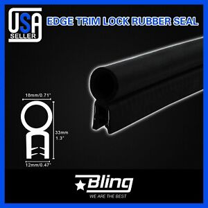 16feet Car Door Protector Rubber Seal Edge Trim W bulb Lock Weather Stripping