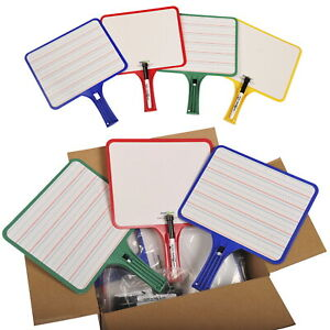 Kleenslate Rectangular Dry Erase Boards With Dry Erase Markers Two sided