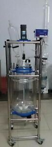 10l Jacket Chemical Reactor Glass Reaction Vessel