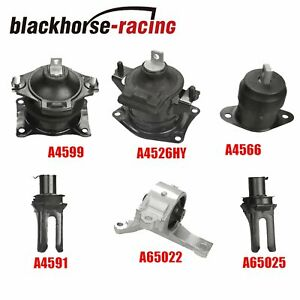 For 2007 2008 Acura Tl 3 2 3 5l Auto Engine Motor Trans Mount Set 6pcs M1272