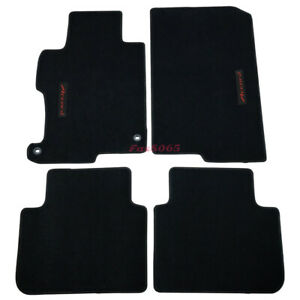 Fits 13 17 Honda Accord Black Nylon Floor Mats Carpets W Red Accord Embroidery