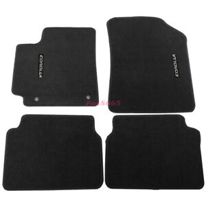 For 09 11 Toyota Corolla 4dr Floor Mats Carpet Nylon Black Corolla Embrodery