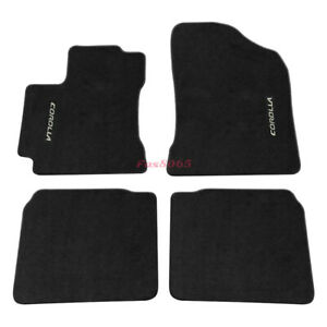 For 14 18 Toyota Corolla Floor Mats Carpet Nylon Black Corolla Embrodery