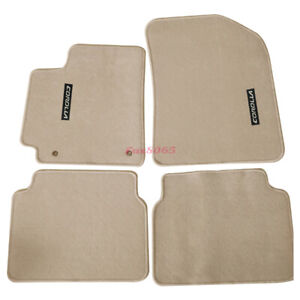 For 09 11 Toyota Corolla 4dr Floor Mats Carpet Nylon Beige Corolla Embrodery