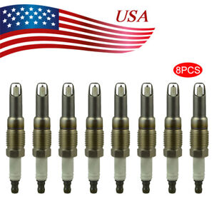 New Set Of 8 Platinum Spark Plugs For Ford F 150 F 250 F 350 5 4l 2004 2008